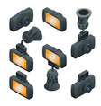 isometric car dvr portable mobile dvr video camera vector image