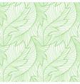 linear engraving banana leaves seamless pattern vector image vector image
