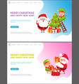 merry christmas and happy new year winter holidays vector image vector image