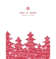 merry christmas text pine tree silhouette pattern vector image