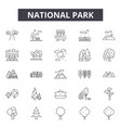 National park line icons signs set