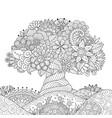 ornate tree outline vector image