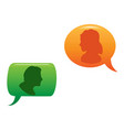 people communicated in color speech bubble vector image vector image