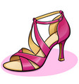 pink woman shoe design vector image
