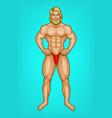 pop art naked bearded athlete sportsman vector image vector image