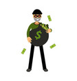 professional burglar character with hearts in his vector image