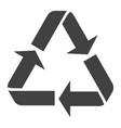 recycle symbol glyph icon eco and delivery vector image vector image