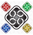 rhombus logo template in celtic knots style vector image vector image