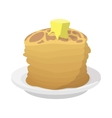 Roasted pancakes with butter icon cartoon style vector image vector image