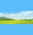 rural summer landscape with mountain vector image vector image