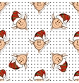 Seamless Pattern Funny Elves vector image vector image