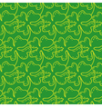 Seamless pattern of lucky four-leaf clover vector image vector image