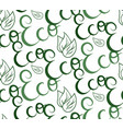 seamless texture with handwritten lettering eco vector image