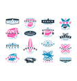 Set of surfing emblem Graphic design for t shirt vector image vector image