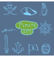 Sketch pirates set Hand drawn vector image vector image