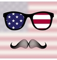 Sunglasses and mustaches vector image