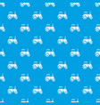 tractor pattern seamless blue vector image vector image