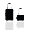 travel bag silhouette vector image vector image