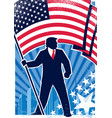 trump usa background vertical vector image