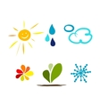 Weather icons for your design vector image vector image