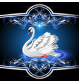 White Swan vector image vector image