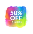 Sale word on watercolor spot splash vector image