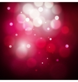 Abstract red and pink circular bokeh background of vector image