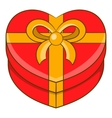 Gift box icon cartoon style vector image
