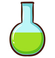 A chemical in a container vector image vector image