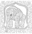 adult coloring bookpage a cute elephant image vector image vector image