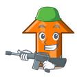 army arrow character cartoon style vector image