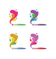 art-brushs-set-logo vector image