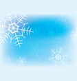 blue and white snowflake background vector image vector image