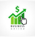 business online hand pixel vector image