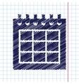 calendar icon Epshand drawn0 vector image vector image