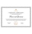 certificate template diploma modern design vector image