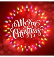 Christmas Lights Frames with vector image vector image