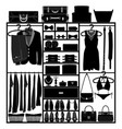 closet wardrobe cupboard cloth accessories man vector image