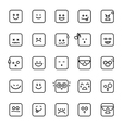 Collection of difference emoji line linear icon on vector image vector image