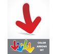 colorful banner set realistic stickers vector image