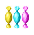 colorful candies in foil vector image vector image