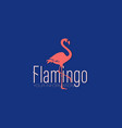 coral flamingo and the inscription vector image vector image