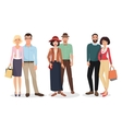 Couple of adults people Man and woman detailed vector image