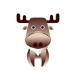 cute brown deer stylized geometric animal low vector image vector image