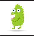 cute monster kids logo monster set vector image vector image
