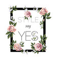 design for print t-shirt with tea roses vector image vector image