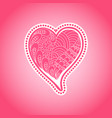 doolde ornate heart romantic background vector image vector image