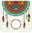 Ethnic background with dreamcatcher in navajo vector image vector image