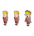 explainer surprised man character design vector image vector image