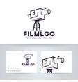 film logo design vector image vector image